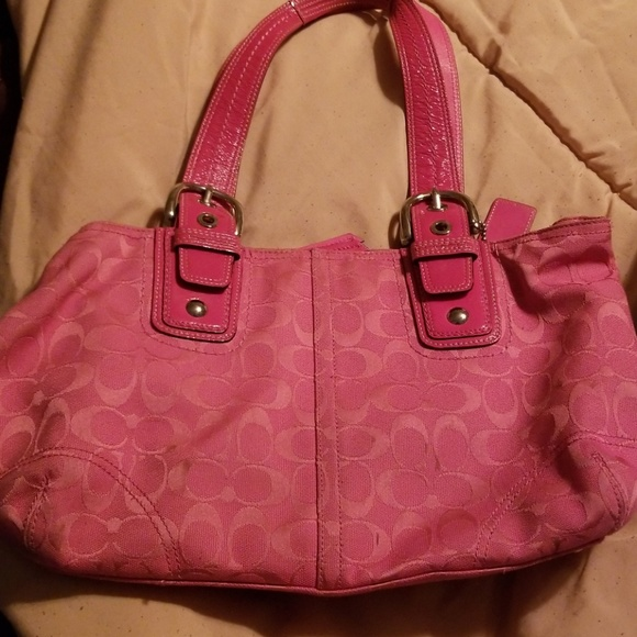 catch sneakers meticulous dyeing processes Pink coach purse